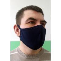 Повязка защитная на лицо со швом темная